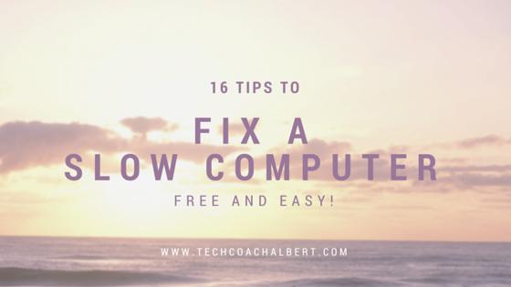 slow computer fix